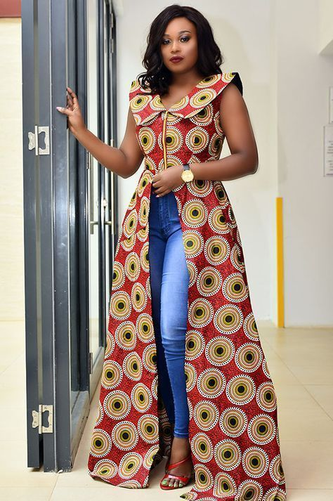Ankara Dress Top And Jeans Part 2 Jessyomwa Digital Daily Dose Of Style Latest African Fashion Dresses African Fashion Kitenge Designs