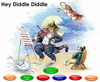 """Just a Little More: SMARTBoard/ Music   """"Hey, Diddle Diddle"""" SMARTBoard Lesson includes, listening, vocal patterns, Line/Space activity, movement, etc."""