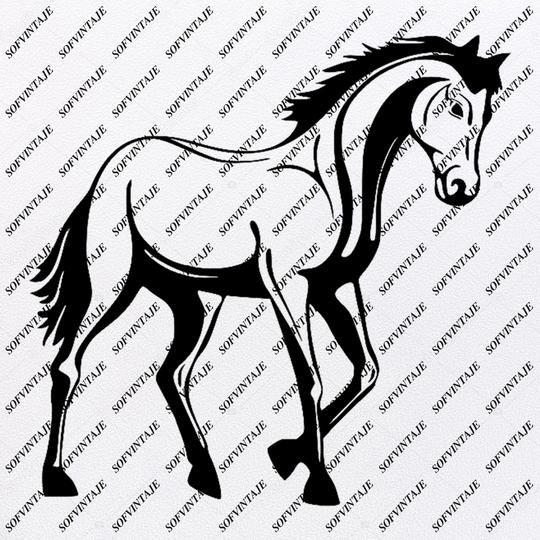 Horse Svg File Horse Svg Design Animals Svg Horse Clipart Svg For Cricut Svg For Silhouette Horse Vector Graphic Svg Eps Pdf Dxf Png Jpg Svg Design Cricut Svg Animals