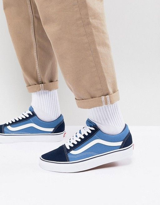 Vans Old Skool trainers in blue vd3hnvy | Vans old skool