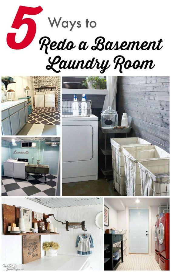 5 Ways To Redo A Basement Laundry Room Basement Laundry