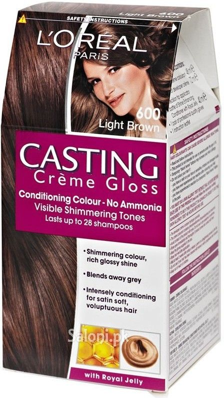 loreal paris casting creme gloss 600 light brown saloni health - Coloration Gloss L Oral