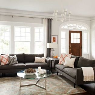 Charcoal Grey Sofa Design Ideas, Pictures, Remodel and Decor