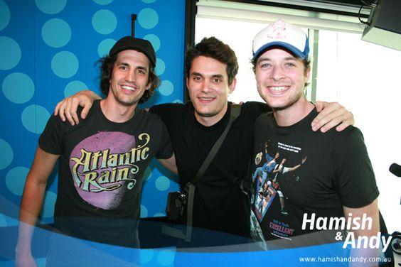Andy Lee, John Mayer and Hamish Blake