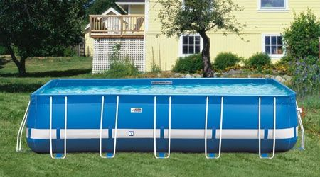 Swimming ground pools and details about on pinterest for Portable above ground swimming pools