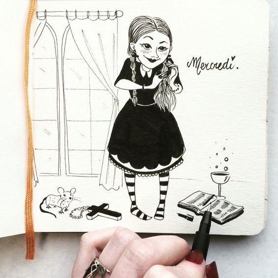 Wednesday on a wednesday By Morgane Carlier
