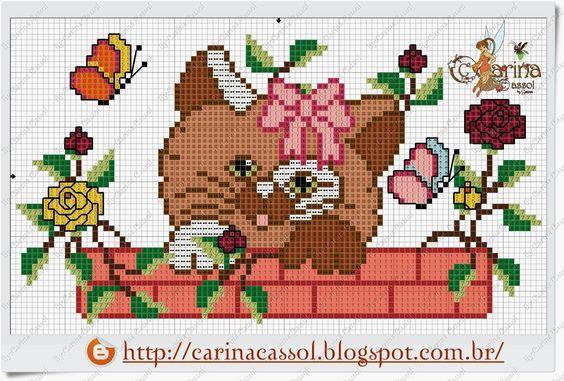 Ângela Bordados: Amo gatos e ainda não consegui tempo para bordar um... pra mim....ainda faço rss