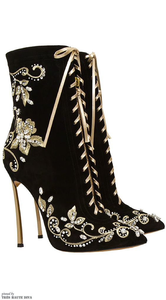 Casadei Embroidered Stiletto Boots.. I found my Primce Charming and its shoes!