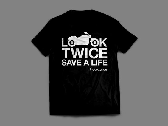 LOOK TWICE SAVE A LIFE - CRUISER EDITION