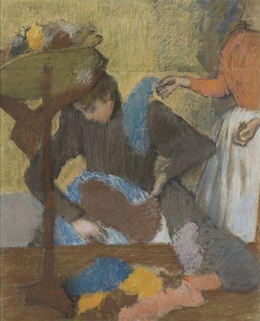 Edgar Degas Chez la modiste, entre 1905 et 1910. Pastel on paper, 91 x 75 cm © Paris, Musée d'Orsay