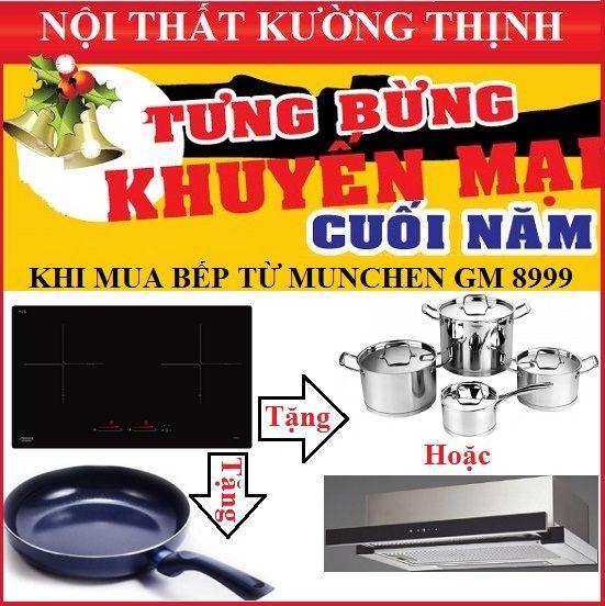 Khuyến mại cực lớn chưa từng có khi mua bếp từ Munchen GM 8999