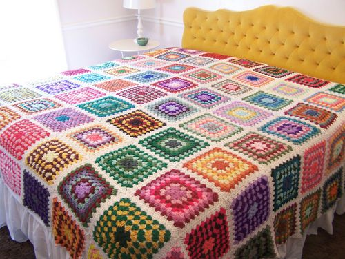"""I JUST got this """"granny"""" blanket for our bed and I'm SUPER pumped right now!"""