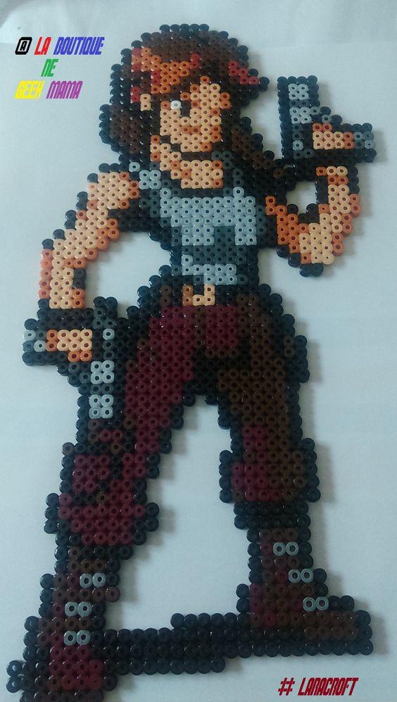 Lara Croft Tomb Raider hama beads by La-boutique-de-geek-mama