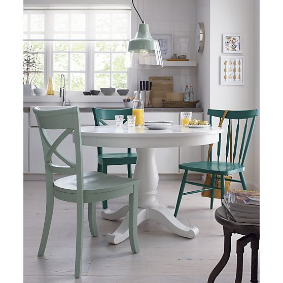Avalon 45 White Extension Dining Table In Tables Crate And Barrel