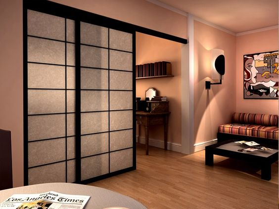 cloison mobile coulissante en bois shoji cloison amovible coulissante cinius cloison. Black Bedroom Furniture Sets. Home Design Ideas