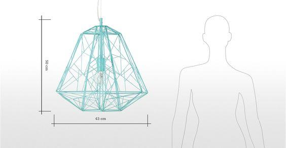 Lampada a sospensione Hive, verde acqua | made.com