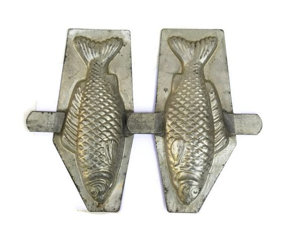 Antique French Chocolate Fish Mold. by LeBonheurDuJour on Etsy, $60.00