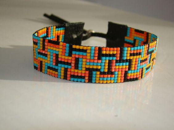 bracelet perles miyuki modele carre boncuk peyote hap shane pinterest patterns. Black Bedroom Furniture Sets. Home Design Ideas