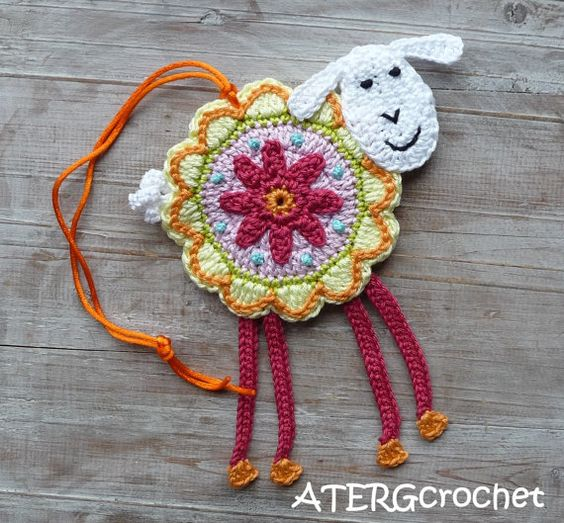 Colorful crochet 'flower sheep' by ATERGcrochet by ATERGcrochet, €13.75