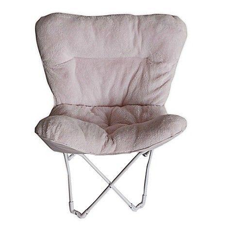 Folding Plush Butterfly Chair In Blush Butterflychair Butterfly
