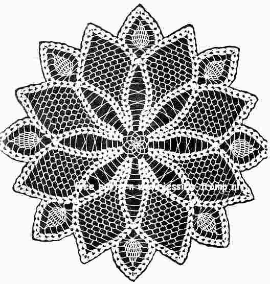 Free Crochet Star Doily Pattern : Star Doily free vintage crochet doilies patterns ...