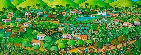 pintura naif brasileira - Pesquisa Google