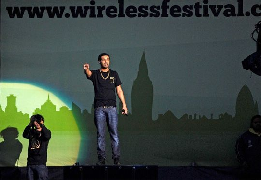 Drake Performing At 2012 Wireless Festival In The UK