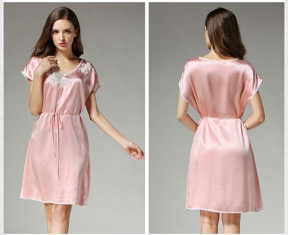 silk nightgowns petite silk pajamas silk ladies pajamas    https://www.snowbedding.com/