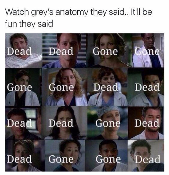 Image result for george dying grey's anatomy meme