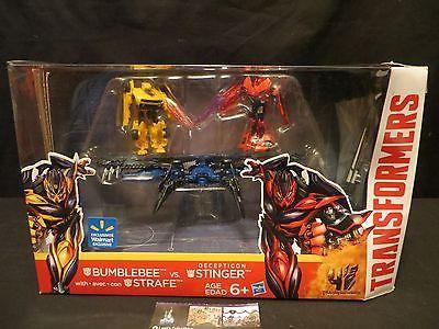 Decepticon Stinger vs Strafe & Bumblebee AOE Transformers Walmart Exclusive Set