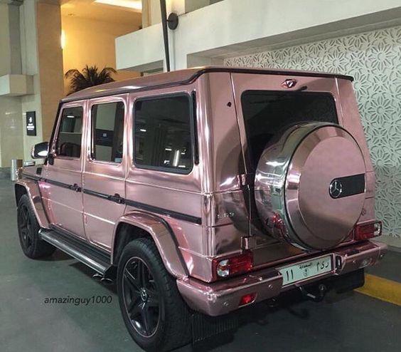 Rose gold mercedes g wagon luxury cars pinterest for Mercedes benz g class wagon