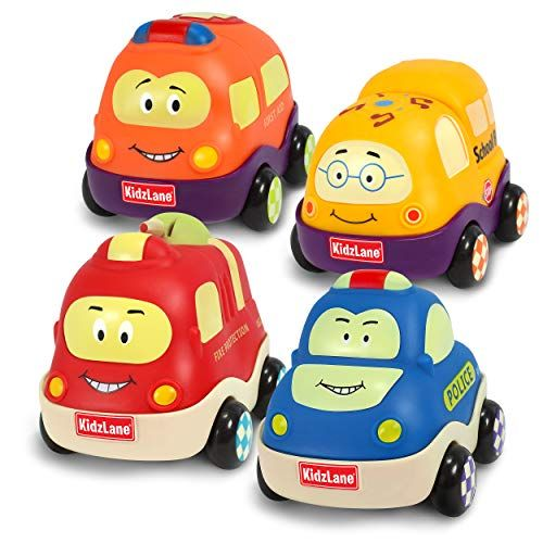 Kidzlane Pull Back Cars Set Of 4 Toy Cars Includes Police Car Fire Truck School Bus Ambulance Soft Sturdy T In 2020 Toy Car Toddler Boy Toys Baby Car Toy