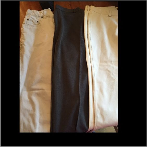 Bundle of 3 women's pants size 8 1 pair are capris all in great condition Pants