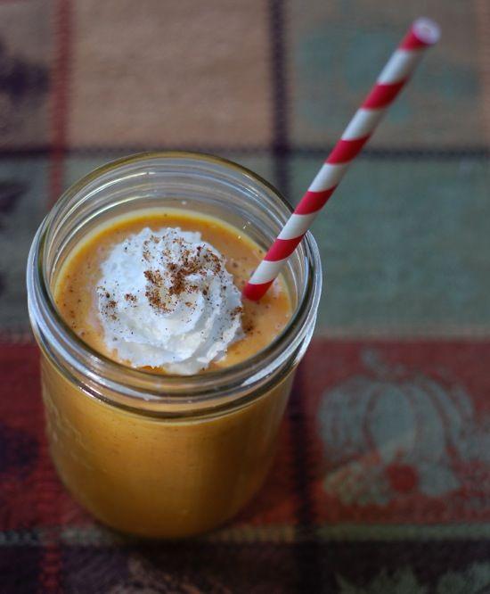 Pumpkin smoothie Nota: en vez de calabaza puede ser camote.