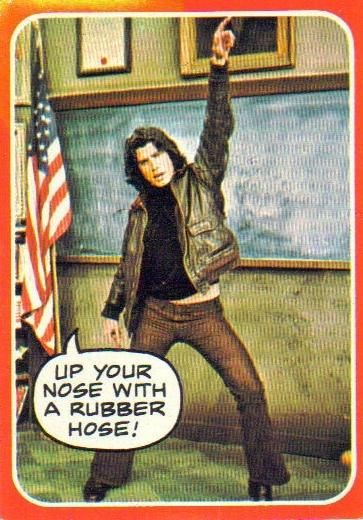 "John Travolta as Vinnie Barbarino from Welcome Back Kotter. ""Up your nose with a rubber hose!"" #brooklyn"