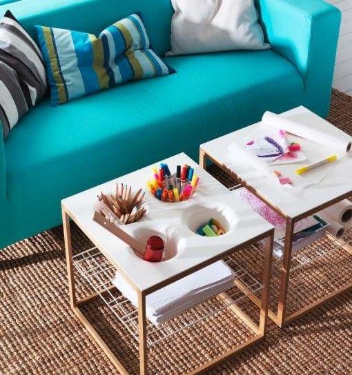 Blue teal - divano turchese - #interior #design #turquoise