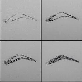مدونة أرسم بالرصاص أرسم بالرصاص تعلم طريقة رسم الحواجب خطوة بخطوة How To Draw Eyebrows Drawings Face Drawing