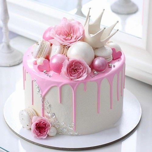 Pretty In Pink Princess Design Cake In 2020 25th Birthday Cakes Birthday Cake Decorating White Birthday Cakes