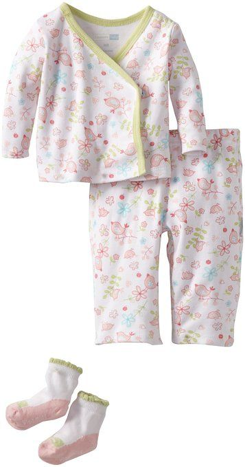 Vitamins Baby Baby-Girls Floral TMH, Green, Newborn