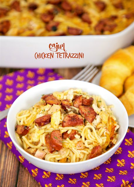 Cajun Chicken Tetrazzini - andouille or smoked sausage, chicken, pasta ...