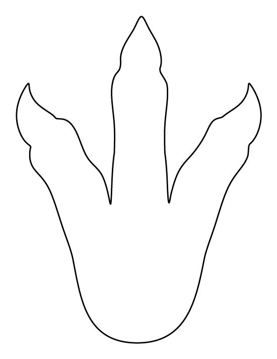 Dinosaur footprint pattern use the printable pattern for for Footprint cut out template