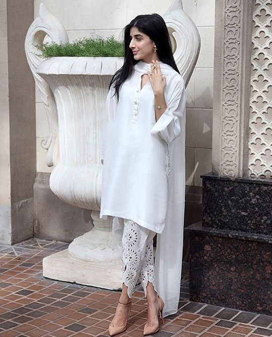Indian Party Wear Shalwar Kameez White Attire