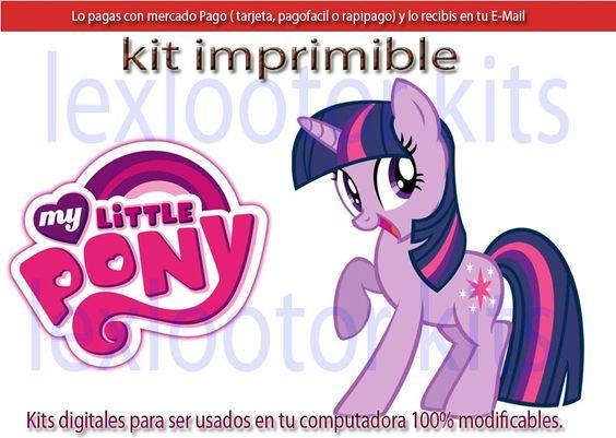 Kit Imprimible Candy My Little Pony Mi Pequeño Pony Poni
