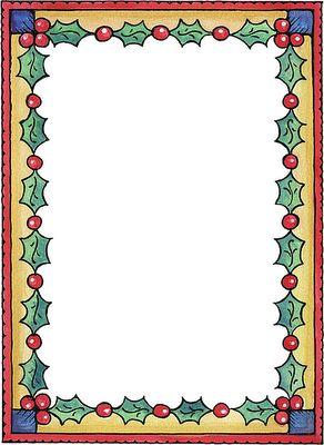 Bordes para hojas de navidad imagenes y dibujos para - Imagenes de navidad para imprimir ...