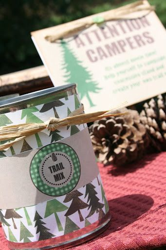 camping party: printables by Amanda's Parties To Go  {Etsy}