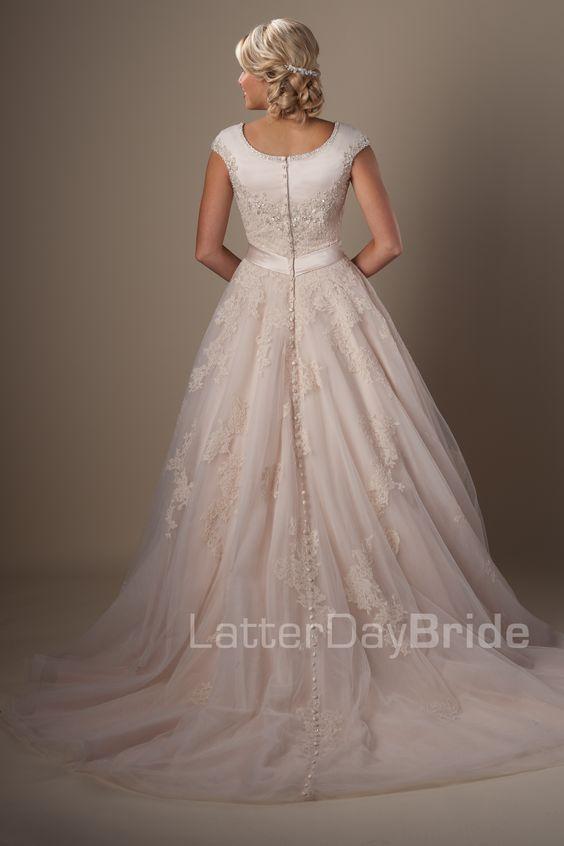 Modest wedding dresses rosenthal latter day bride for Latter day wedding dresses