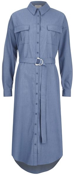 C/MEO COLLECTIVE Women's On Point Shirt Dress Blue Suiting
