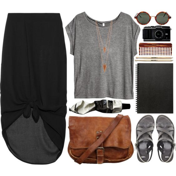 Rusty Clouds by vv0lf on Polyvore featuring H&M, Minimarket, ASOS, Jules Smith, American Apparel, Aesop, Mason Pearson and Muji