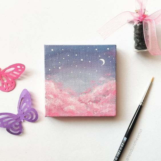 30 Diy Easy Canvas Painting Ideas For Beginners Mini Paintings Art
