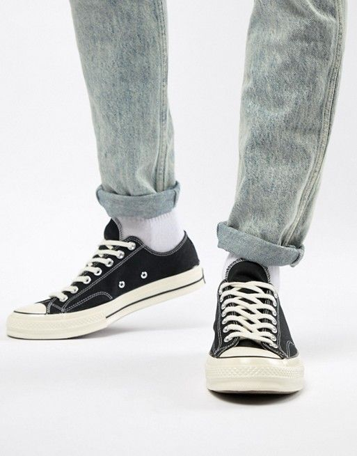 '70 Star All Converse Taylor Black Chuck Ox Sneakers In mN8n0vw